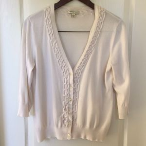 Banana Republic Creme 3/4 Cardigan Large
